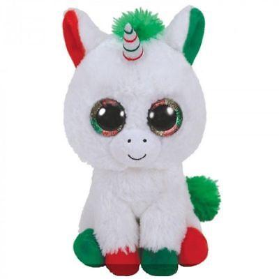 Ty Beanie Babies Boos Candy Cain Christmas Unicorn Plush Soft Toy New With Tags