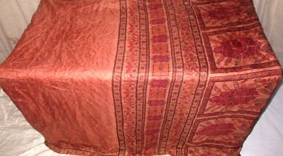 Coffee Black Pure Silk 4 yard Vintage Sari Saree on sale Great indien US #9A2AI