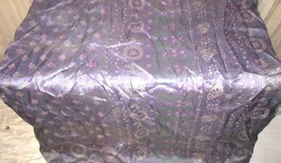 Grey Lavendar Pure Silk 4 yd Vintage Sari Saree NR Varied WallHanging Hip #9A2BV