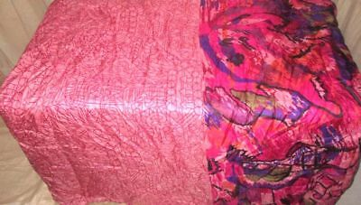 Multi-color Pure Silk 4 yard Vintage Sari Saree HOT BARGAIN DEAL Wedding #9A2DO
