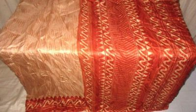 Brown Rust Pure Silk 4 yard Vintage Sari Saree latest collection Gifts UK #9A2DS