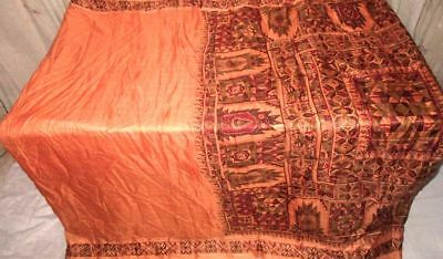 Peach Maroon Pure Silk 4 yard Vintage Sari all season UK wholesale Hot US #9A2EN
