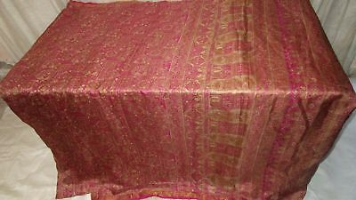 Magenta Pure Silk 4 yard Vintage Sari Saree HOT BARGAIN DEAL Beautiful US #9A2G0