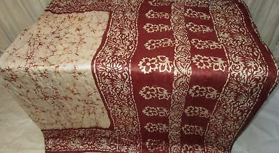 Cream Coffee Pure Silk 4 yard Vintage Sari Saree daily new items Design #9A2G3