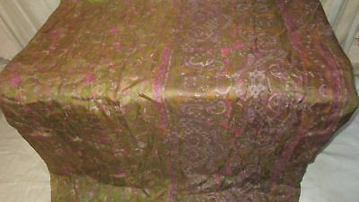 Henna Pure Silk 4 yard Vintage Sari Saree GIFT recycled Dress Italy Cloth #9A2G7