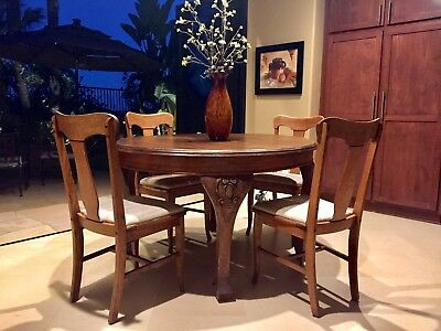Dining Table And Chairs 100+ Years Old Great Condition