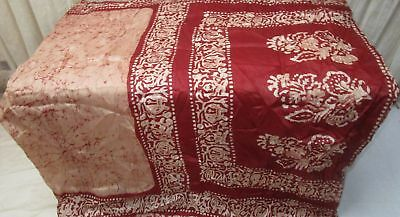 Light Coffee Maroon Pure Silk 4 yd Vintage Sari Saree Saris Surprise Gift #9A2JH