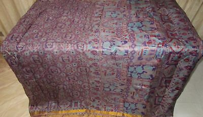 Light Wine Violet Pure Silk 4 yard Vintage Sari Saree Online Discount Hip #9A2K0