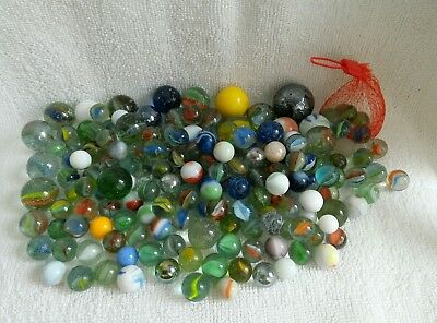 Collection of Antique and Vintage Glass Marbles
