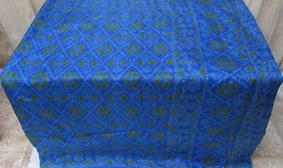 Blue Pure Silk 4 yd Vintage Antique Sari Saree www. Pretty Trusted Seller #9A2L5