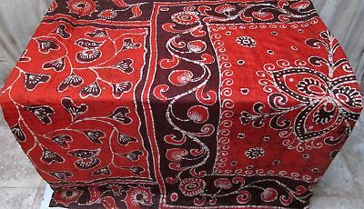 Orange Coffee Pure Silk 4 yard Vintage Sari Saree Pattern Patterns Varied #9A2MZ