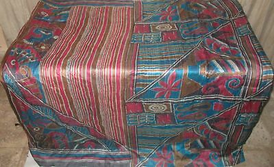 Multi-color Pure Silk 4 yd Vintage Sari Saree Pattern Beautiful PROMO Hot #9A2NF
