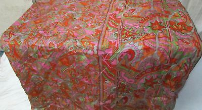 Multi-color Pure Silk 4 yd Vintage Antique Sari Saree acting global store #9A2PG