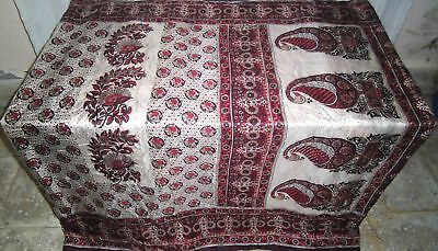 Cream Coffee Pure Silk 4 yard Vintage Sari Ebay special offer Woman Bride #9A2R2
