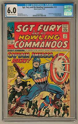 Sgt. Fury and His Howling Commandos #13 CGC 6.0 (OW-W) 1st Meeting of Captain Am