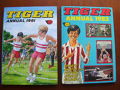 Two Vintage Tiger Annuals ( 1981 / 1982 ) Excellent / Very Good Condition