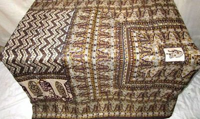 Yellow Coffee Pure Silk 4 yard Vintage Sari customer delight best offer #9A2W6