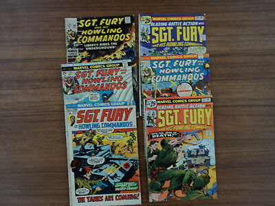 Sgt. Fury and his Howling Commandos 66,104,117,119,133,134 Marvel VG