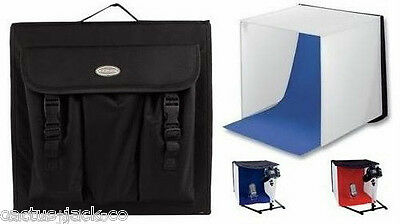 Portable Mini Photo Studio With Red & Blue Backgrounds Plus Carry Bag