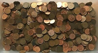 4 Pounds Canada One Cent Coin Collection; 1843 grams; 600+ cents - No Reserve