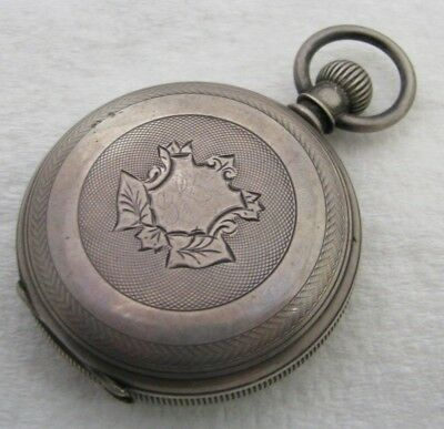 Antique 18S Coin Silver 3 Ounce Hunter Pocket Watch Case Parts Repair