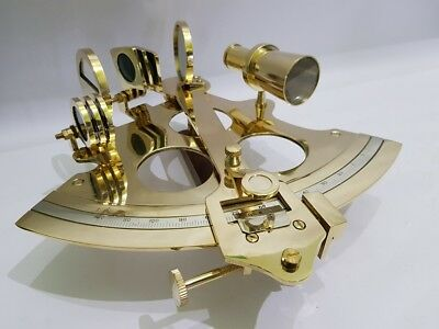 Nautical Brass Sextant 6 Inches Vintage Navy Working sextant