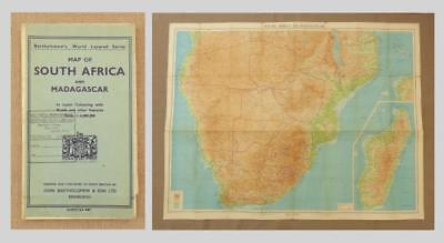 1948 - MAP of SOUTH AFRICA & MADAGASCAR - Bartholomew