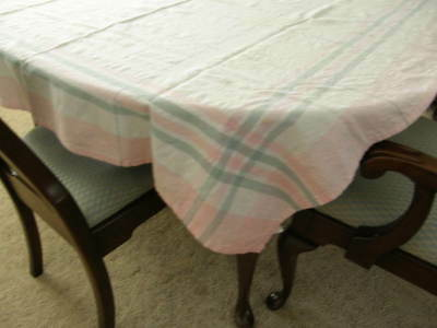 Prime Vintage 40S 50S Cotton Linen Table Cloth White With Pale Download Free Architecture Designs Scobabritishbridgeorg