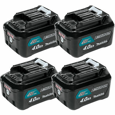 Makita 12 Volt Max CXT 4.0 Ah Compact Lithium Ion Power Tool Battery (4 Pack)