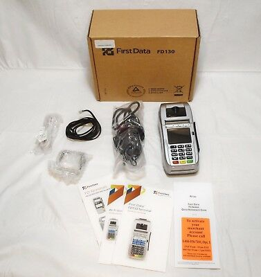 First Data Fd130 Credit Card Terminal Dial/ Ip /wi-Fi Corrupted Memory I-12063