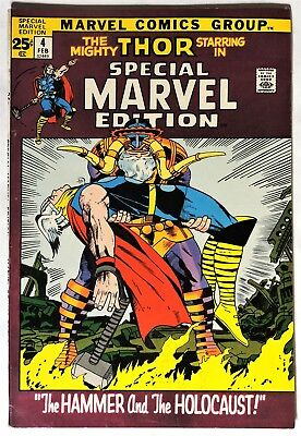 S313. SPECIAL MARVEL EDITION #4 feat. THE MIGHTY THOR Marvel 7.0 FN/VF (1972) %