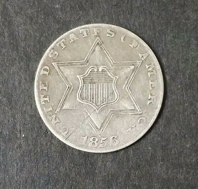 1856 US 3 Cent Silver Coin Piece *No Reserve*