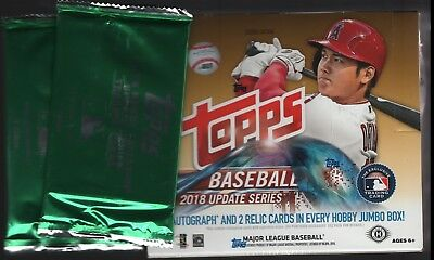 2018 Topps Update Series Baseball (10/22) HTA Hobby Jumbo Box + 2 Silver Packs