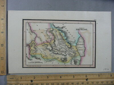 Rare Antique Orig VTG Leavitt Lord Bethlehem Tribe Of Zebulon Map Engraved Print