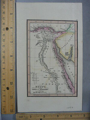 Rare Antique Orig VTG Leavitt Lord & Co Egypt Land Of Pathros Map Engraved Print