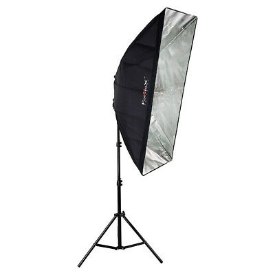 """Fotodiox Nine-Bulb Fixture With 20x48"""" Reflective Shell and Light Stand"""