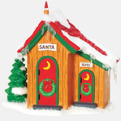 Dept 56 North Pole Village - Up North Outhouse 800009 Santa Elves New In Box