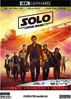 Solo: A Star Wars Story - 3 DISC SET (2018, Blu-ray NEUF) (RÉGION A)