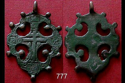 Authentic Medieval Viking Era Bronze Cross Amulet / Wearable