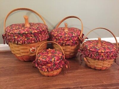 Longaberger pumpkin baskets, 1995-1997, Beautiful fall colors, Collectors items!