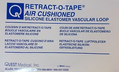 Quest Medical 1041 Retract-O-Tape (BOX OF 10) Air Cushioned (IN DATE)