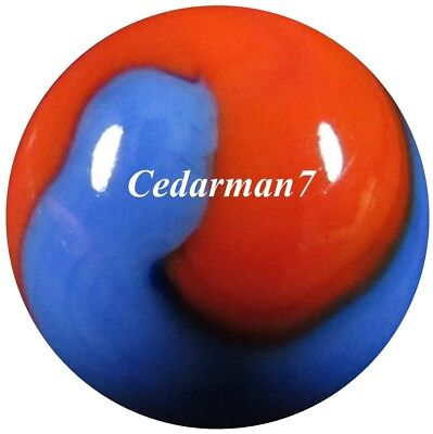 "Cedarman7; Beautiful Vintage 19/32"" Wet Mint (-) Akro Agate Prize Name Marble!"