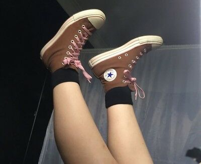 RARE Brown And Pink Converse