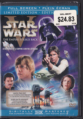 The Empire Strikes Back DVD, 2006, 2-Disc Limited Edition New Sealed Full Screen