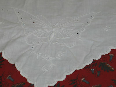 Lovely Antique Vintage Hand Embroidery PillowCases~BUTTERFLIES-Envelope Cases