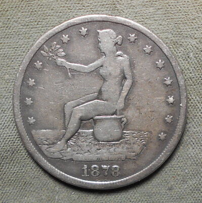 """Potty Dollar"" Engraved 1878S U.S. Trade Dollar Nude Woman On A Chamber Pot"