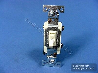 10 Eagle Almond 3-WAY Framed Quiet Toggle Wall Light Switches 15A 120V 1303-7A