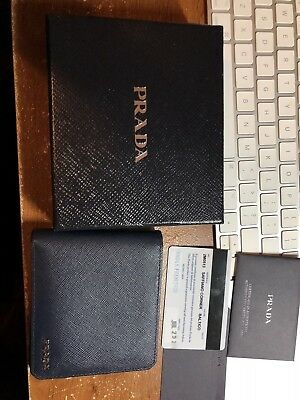 1bc5315ef4 100% AUTHENTIC PRADA Saffiano Leather Credit Card Case/ Wallet ...