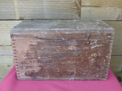 Vintage GPO Wooden Box Tool Storage Cabinet Chest Sewing Box Hobbies Crafts