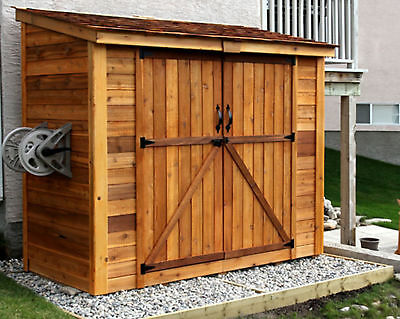 Outdoor Living Today SpaceSaver 8 ft. W x 4 ft. D Solid Wood Lean-To Tool Shed